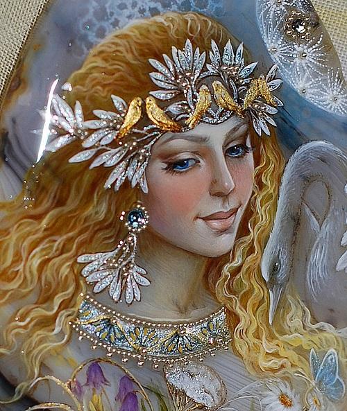 Miniature painting by Russian artist Svetlana Belovodova