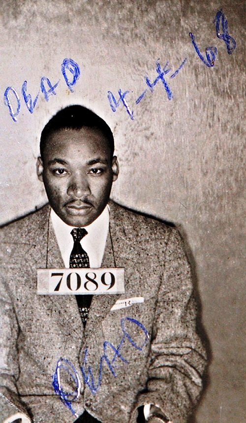 Montgomery (Ala.) Sheriff's Department booking photo of The Rev. Martin Luther King Jr. taken Feb 22, 1956