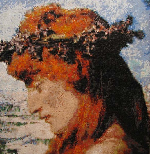 """Faces of the Millennium"", mosaic portrait"