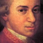 Detail of portrait by Johann Nepomuk della Croce. Mozart c. 1780