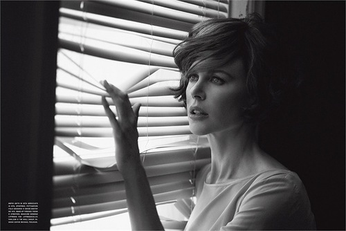Australian actress Nicole Kidman for Vogue Italy, photo by Peter Lindbergh