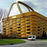 Office Longaberger basket company ('Trash Longabergera') in Newark, Ohio
