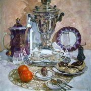Olga Greigorieva-Klimova (b. 1984). Still life with tangerines