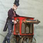 Organ player by a Russian artist Rostislav Mironov.