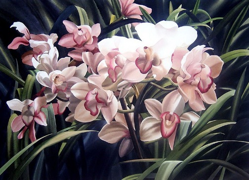 Beautiful black and white Painting by Filipino artist Alfred Galura