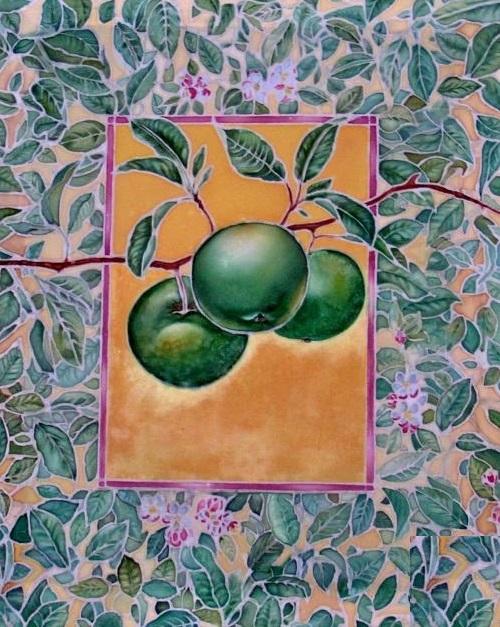Painting on silk by Lithuanian artist Svetlana Grigoniene