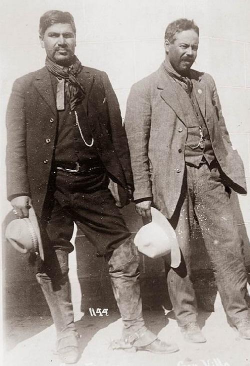 Pancho Villa (right) and Rodolfo Fierro 'Butcher' (left)