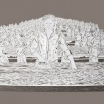 Ironing. Paper art by Chinese artist Bovey Lee