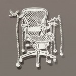 Chair. Paper art by Chinese artist Bovey Lee