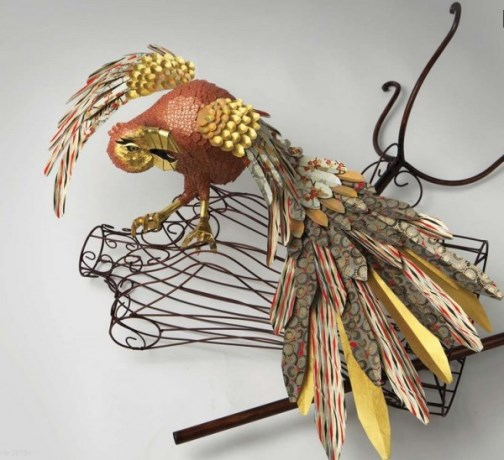 Paper sculptures by British artists Julie Wilkinson and Joyanne Horscroft