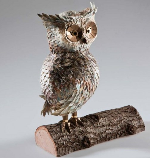 Gorgeous Paper sculpture of Owl