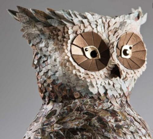 Paper sculptures by British artists Julie Wilkinson and Joyanne Horscroft