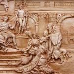 Ancient world in wood carving by Ukrainian artist Sergey Karpenko