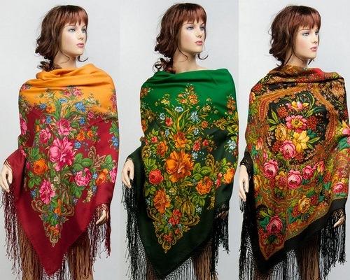 Pavlovsky Posad traditional shawls
