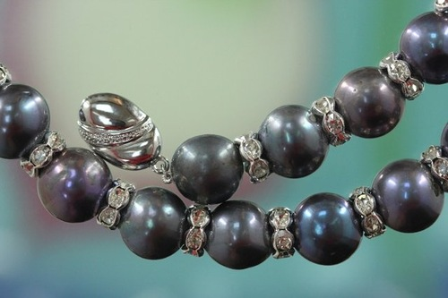 Closeup Pearl beads