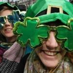 Enjoying the St Patrick's Day parade in Dublin