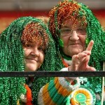 People enjoy the St Patrick's Day parade in Dublin, Ireland