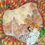 Beautiful painting on silk - Batik by Victoria Strelets