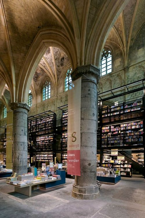 Beautiful Bookstore in the old church in The Netherlands