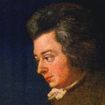 Painted by his brother-in-law Joseph Lange, portrait of Mozart