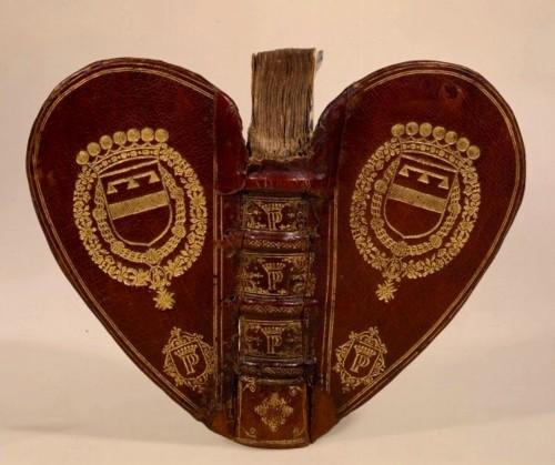 Heart shaped books