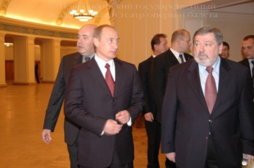 President of Russia V.V. Putin and B.M. Mezdrich - theater director, December 14, 2005