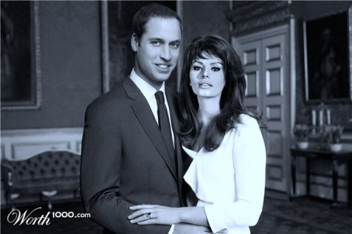 Prince William and Sophia Loren