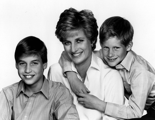 Princess Diana of Wales, sons William and Henry