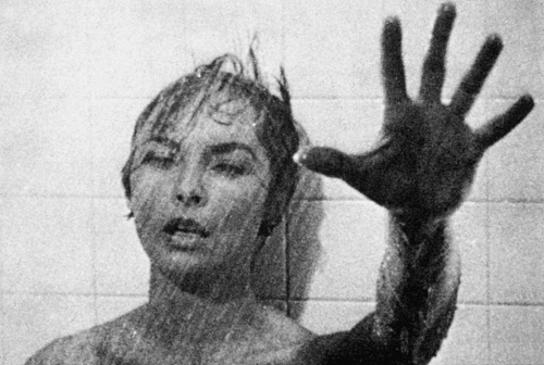 Scary scene in Psycho by Hitchcock