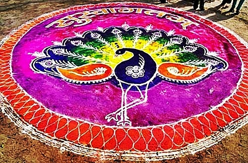 Traditional decorative Designs Rangoli