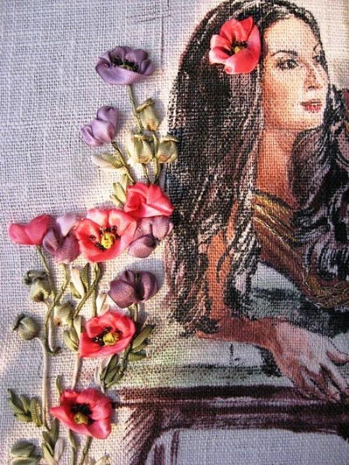 Ribbon embroidery by Irina Zhukova