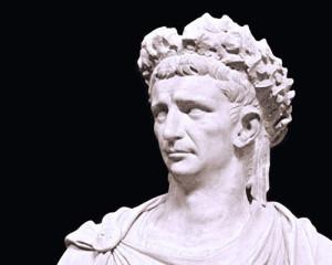 Roman emperor Claudius, statue
