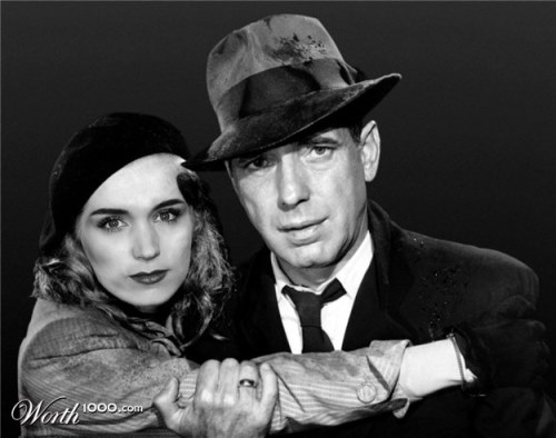Rooney Mara and Humphrey Bogart