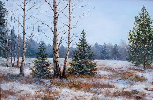 Russian Landscapes by painter Elena Pokusheva