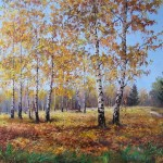 Russian Landscape by Moscow painter Elena Pokusheva