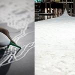 Salt installation by Japanese artist Motoi Yamamoto