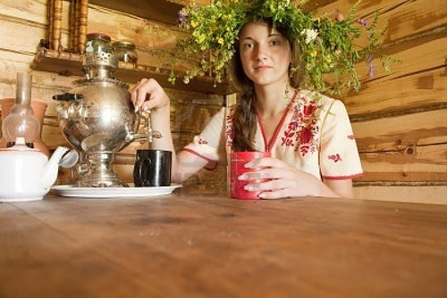 Photo – Symbol of Russian life – Samovar