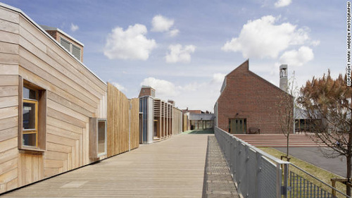 The greenest buildings of 2011. Sandal Magna School - Wakefield, United Kingdom