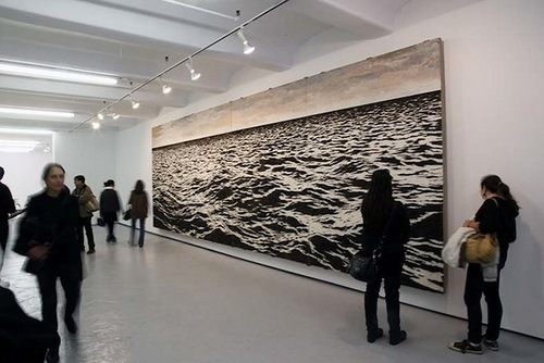 Yoan Capote Seascape from fish hooks