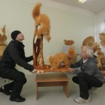 Unique Life-size wooden sculptures of Siberian birds and animals by Sergey Bobkov