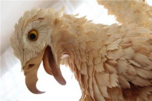 Detail of eagle sculpture