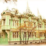 Beautiful Wooden houses of Siberian town Tomsk