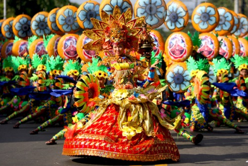 Colorful Sinulog festival in Cebu City