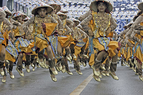 Group dance. Sinulog festival in Cebu City, Philippines
