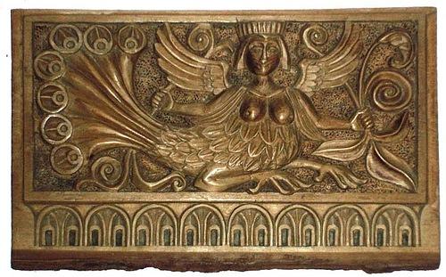 Sirin, box. Wood carving