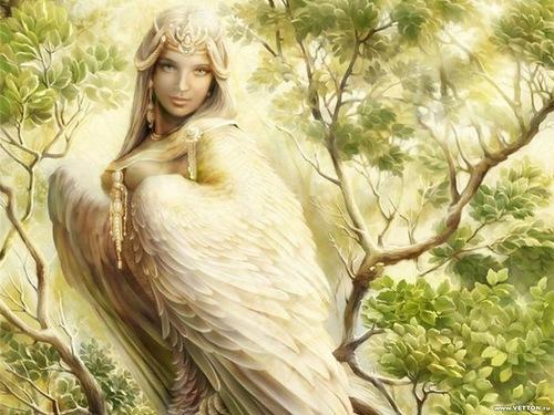 Sirin mythological creature of Russian legends