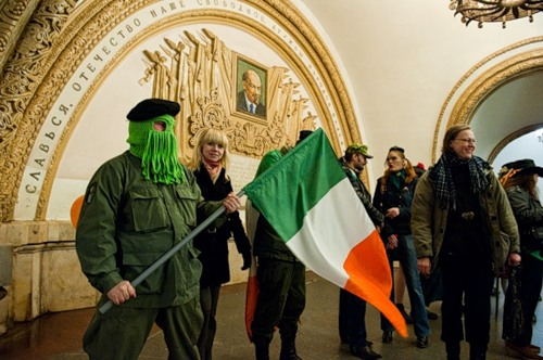 St. Patrick's day in Moscow