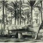 Statue of Ramses II, Lower Egypt. Egypt in retro photographs of 1870