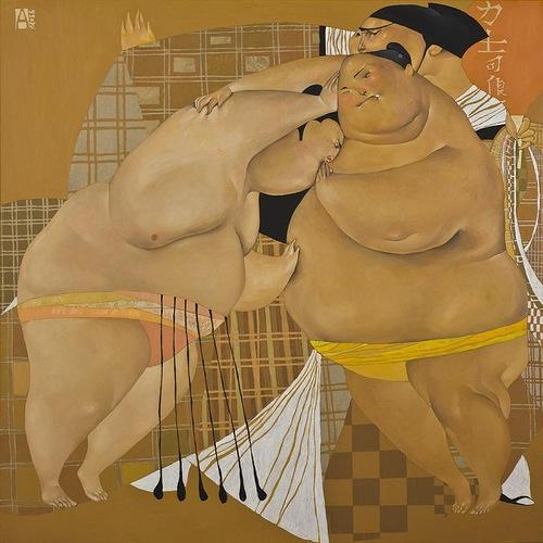 Sumo. paintings by Akzhana Abdaliyeva