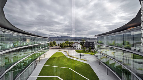 The greenest buildings of 2011. Swarovski Headquarters - Lake Zurich, Switzerland. The greenest buildings of 2011